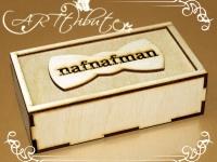Коробка деревянная-пенал для мужской бабочки № 01-1