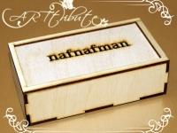Коробка деревянная-пенал для мужской бабочки № 02